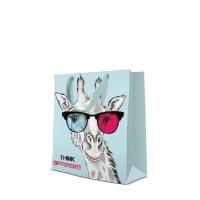 10 Geschenktaschen - Giraffe in Glasses medium