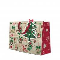 10 Geschenktaschen - Rustic Christmas