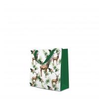 10 Geschenktaschen - Deers and Holly