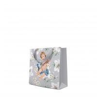 10 Geschenktaschen - Angels in Flowers silver