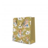 10 Geschenktaschen - Angels in Flowers gold