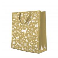 10 Geschenktaschen - Celebrate Christmas gold