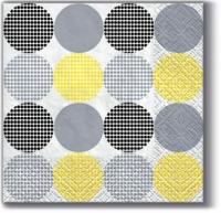 Servietten 25x25 cm - Dotsy Dots (yellow)