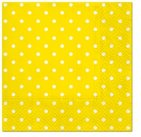 Servietten 25x25 cm - Dots (yellow)