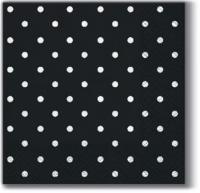 Servietten 25x25 cm - Punkte schwarz