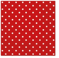 Servietten 25x25 cm - Dots (red)
