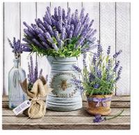 Servietten 25x25 cm - Lavender in Buchet