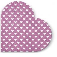 Servietten - Rund Hearts (pink)