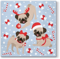 Servietten 33x33 cm - Xmas Puppies