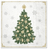 Servietten 33x33 cm - Frosty Tree