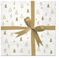 Servietten 33x33 cm - Gift (gold)