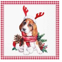 Servietten 33x33 cm - Santa dog