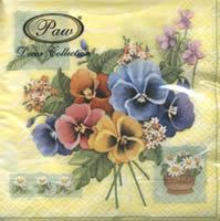 Servietten 33x33 cm - Colorful Pansies