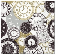 Servietten 33x33 cm - Twelve o`clock