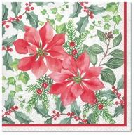 Servietten 33x33 cm - Beautiful Poinsettia