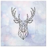 Servietten 33x33 cm - Geometric Deer