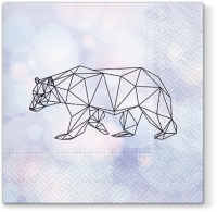 Servietten 33x33 cm - Geometric Bear