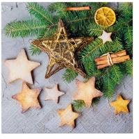 Servietten 33x33 cm - Cinnamon Stars