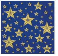 Servietten 33x33 cm - Beatiful Stars blue