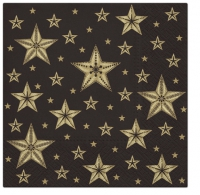 Servietten 33x33 cm - Beatiful Stars black