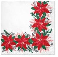 Servietten 33x33 cm - Lovely Poinsettia