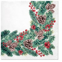 Servietten 33x33 cm - Winter Branches