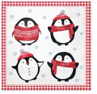 Servietten 33x33 cm - Little Pinguins