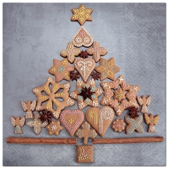 Servietten 33x33 cm - Gingerbread Tree