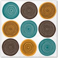 Servietten 33x33 cm - Tribal Pattern (honey)