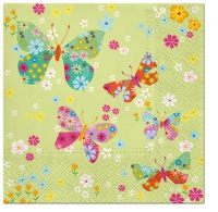 Servietten 33x33 cm - Butterflies Around