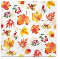 Servietten 33x33 cm - Falling Leaves