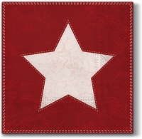 Servietten 33x33 cm - X-mas Star (red)