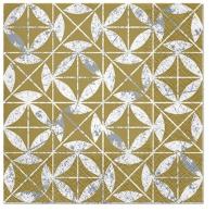 Servietten 33x33 cm - Mosaik Textur Gold
