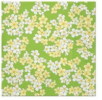 Servietten 33x33 cm - Floral Carpet (green)