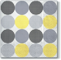 Servietten 33x33 cm - Dotsy Dots (yellow)