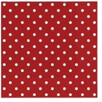 Servietten 33x33 cm - Punkte (rot)