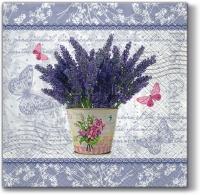 Servietten 33x33 cm - Flowering Lavender
