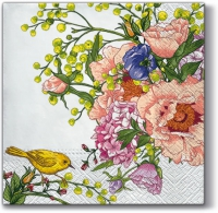 Servietten 33x33 cm - Bird on Flower