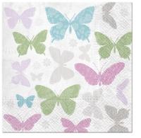 Servietten 33x33 cm - Weiche Schmetterlinge