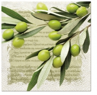 Servietten 33x33 cm - Greek Olives