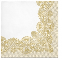 Servietten 33x33 cm - Royal Lace (gold)