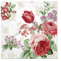 Servietten 33x33 cm - Mysterious Roses