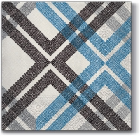 Servietten 33x33 cm - Stylish Check (blue)