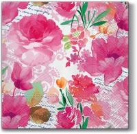 Servietten 33x33 cm - Romantic Diary