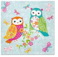 Servietten 33x33 cm - Magical Owls