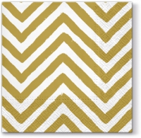 Lunch Servietten Big Chevron (gold)