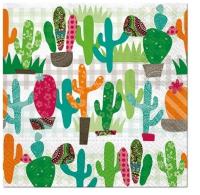 Servietten 33x33 cm - Cactus Garden