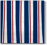 Servietten 33x33 cm - Gestreifte Illusion blau
