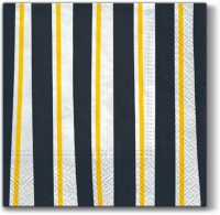 Servietten 33x33 cm - Striprd Illusion grey