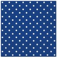 Servietten 33x33 cm - Dots blue